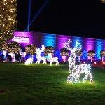 Illuminated in it's festive glory