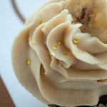 Elvis Cupcake: Chocolate brownie cake, caramelized banana filling, and peanut butter frosting
