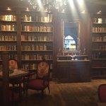Hotel lobby library