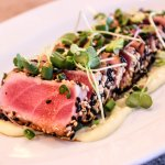 Sesame crusted tuna tataki