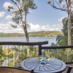 The beautiful view of Lake Baroon from the deck at Possums treehouse