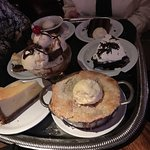 Dessert Tray - they have excellent desserts! Save room!