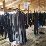 Area to dry dive equipment