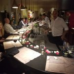 Maitre D' Glen expounds on the wine pairing