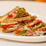 Toasted Vegetable Sandwiches for our Vegans/ Vegetarians