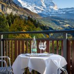 View on the Jungfrau from rooms' balcony