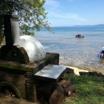 the wooden pizza oven