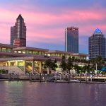 Beautiful sunset and water views from the Tampa Convention Center