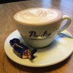 Cappuccino with Fazer Sininen, tastes good!