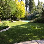 outdoor pool and gardens