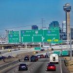 View of I35E traffic into Dallas (taken from E8th St bridge)