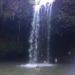 Caveman Waterfall with wife in foreground...