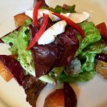 Beet and Local Greens w Goat Cheese