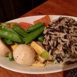 Flash Seared Veggies w Wild Rice