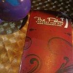 menu cover and fun maraca