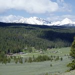 overview of the ranch in the Taylor fork valley