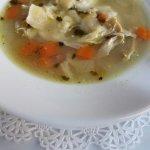 Oheka Castle Restaurant hardy chicken vegetable soup