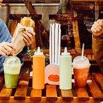 Sandwich & mixed juice
