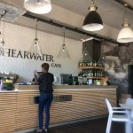 Sheerwater Cafe in town. Excellent coffee and food!