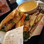 Beer Cheese Soup, chicken salad club sandwich