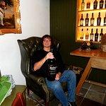 Ardbeg Tasting Room with a 4.5 L bottle of Uigeadail