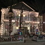 "Front of B&B during ""Night of Lights"" holiday period"