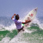 Hitting the surf hard