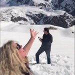 Throwing the snow in the air - so much fun