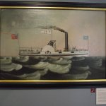 MAINE MARITIME MUSEUM - OIL PAINTING OF STEAMSHIP T.F. SECOR