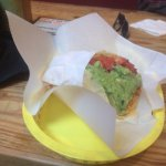 Nick's Way Pollo Taco. Very large for a taco. Generous serving of chicken and guacomole.