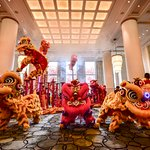 Lion Dance performance in The Lobby and Yi Long Court during Chinese New Year