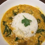 Vegan chick pea & spinach curry.. Yum