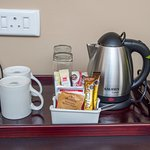 Each room inclludes a fully stocked complimentary coffee & tea tray!