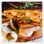 shrimp & grits grilled cheese