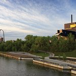 Nestled on the banks of the Mississippi River our building offers beautiful views of the city. P