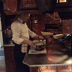 Preparing our raclette . . .mmmm!