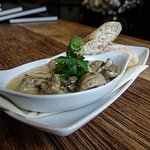 Our most popular starter...the York Magic...garlic mushrooms cooked in a creamy peppercorn sauce
