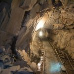 A tunnel inside slate mines