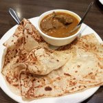 Roti (2) and Curry Mutton