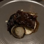 Short ribs, white grits, grilled onion, radicchio.