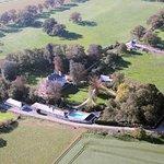 vue aérienne du domaine du Breuil