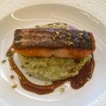 Pavé de saumon et risotto pistache