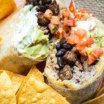 Mac Daddy Burrito (flank steak)