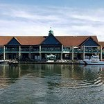 Here is a boaters view of our restaurant. We are on the second floor with elevator access.