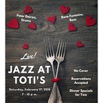 Live jazz begins at Toti's on February 17, 2018!