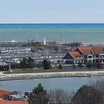NE view of Reefpoint Marina and the Reefpoint Brew House location from Downtown Racine - April 2
