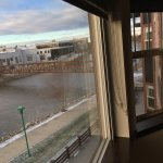 From our Dec. 2017 stay at the Ironworks: Views of our suite, and looking out the window of the