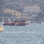 出航した黒船遊覧船