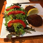 Crab cakes. Great salad side