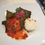 my plated Fish Marinated in Achiote Wrapped in Banana Leaves, which tasted divine!